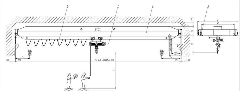 2 Ton Bridge Crane Design Project