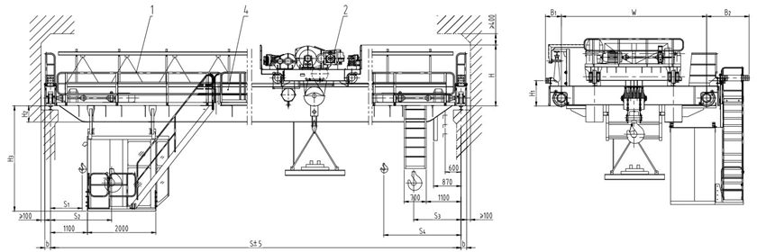 Magnetic Overhead Crane Design
