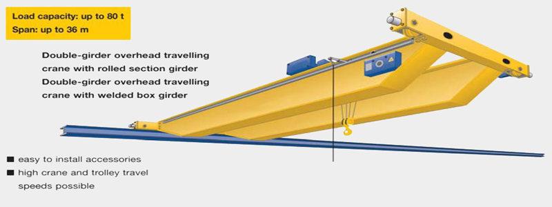 Ellsen high quality double girder overhead crane 5 ton for sale