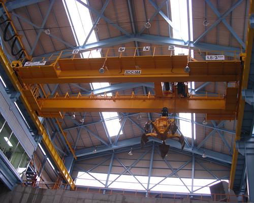 QZ double girder grab industrial birdge crane for sale