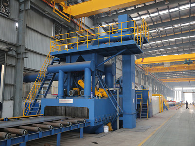 Crane shot blasting machine