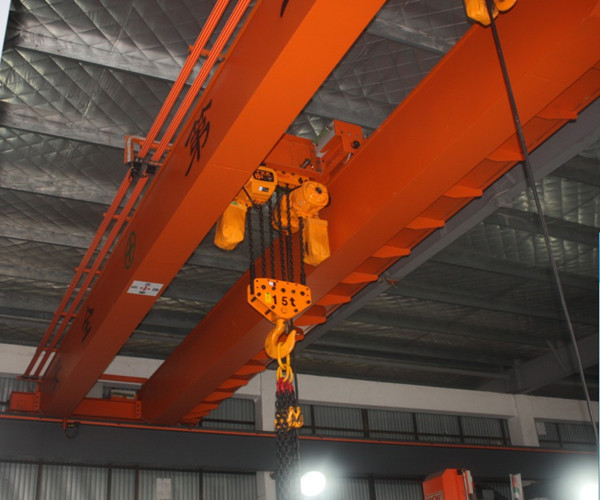 LH electric hoist double girder overhead crane for sale