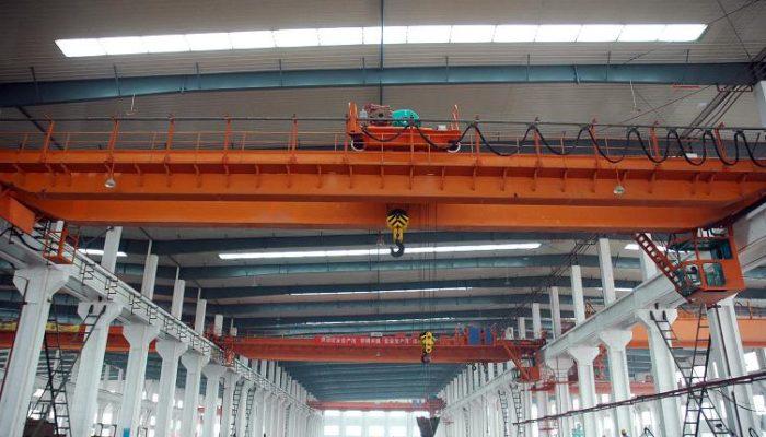 Ellsen QD double girder overhead crane used in Stone factory