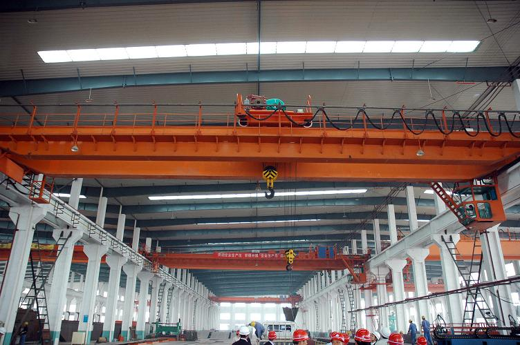 QD double girder overhead crane for stone factory