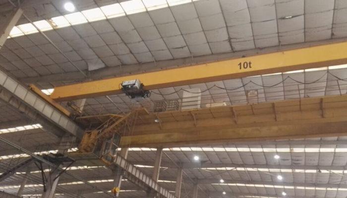 HD European type single girder overhead crane applied for mold factory