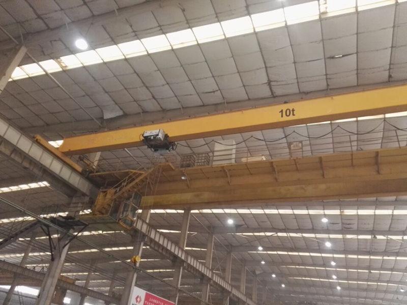 Ellsen HD overhead crane equipped in mold factory