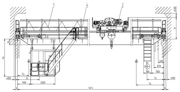 Ellsen QD double girder overhead crane design project