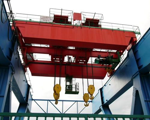 100 ton bridge crane with double hook for sale