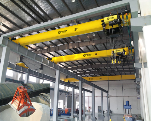 Ellsen 5 ton warehouse single girder overhead crane for sale