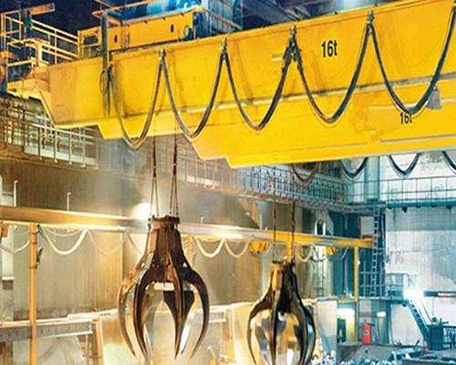 Ellsen warehouse grab double girder overhead crane for sale