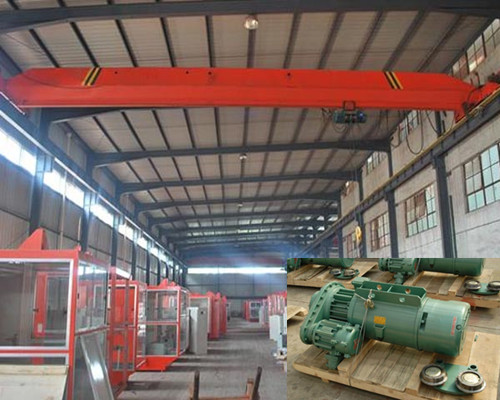 LB warehouse single girder hanging bridge crane for sale