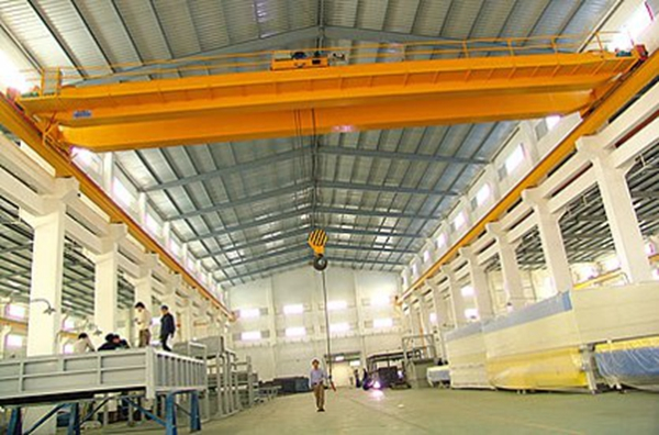 LH type warehouse hook double girder overhead crane for sale