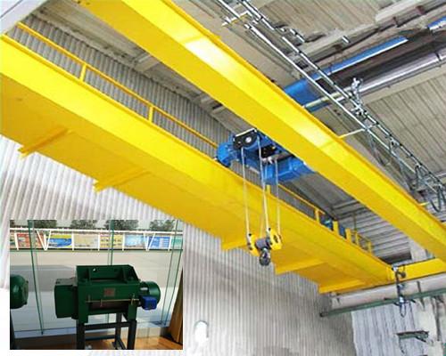 Low headroom warehouse hoist double girder bridge crane for sale