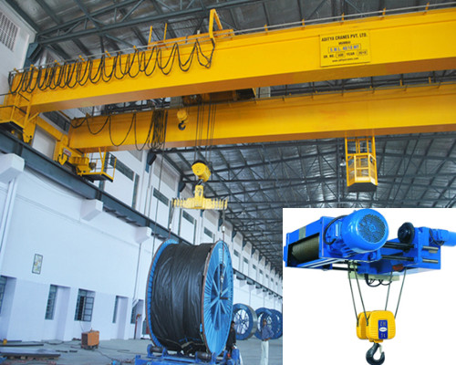 Low price warehouse hoist double girder bridge crane for sale