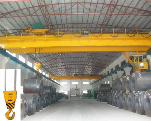 Low price warehouse hook double girder overhead crane for sale