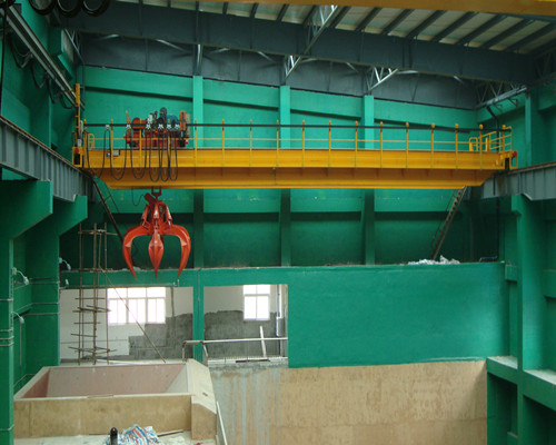 QZ double beam bridge crane 100 ton with grab for steel factory for sale