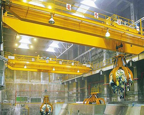 QZ type warehouse grab double girder overhead crane for sale