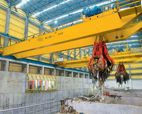 Warehouse grab double beam overhead crane for sale