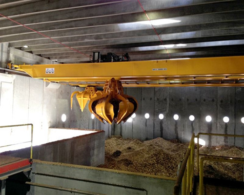 Warehouse grab double girder overhead crane for sale
