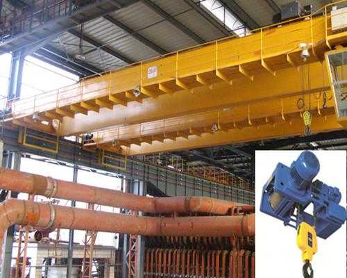 Warehouse hoist double girder bridge crane for sale