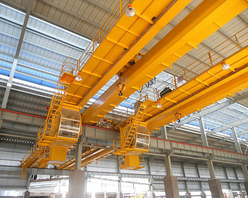 QD type European type workshop overhead travelling crane with double hook for sale