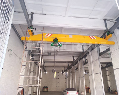 China Underhung Bridge Crane 2 Ton