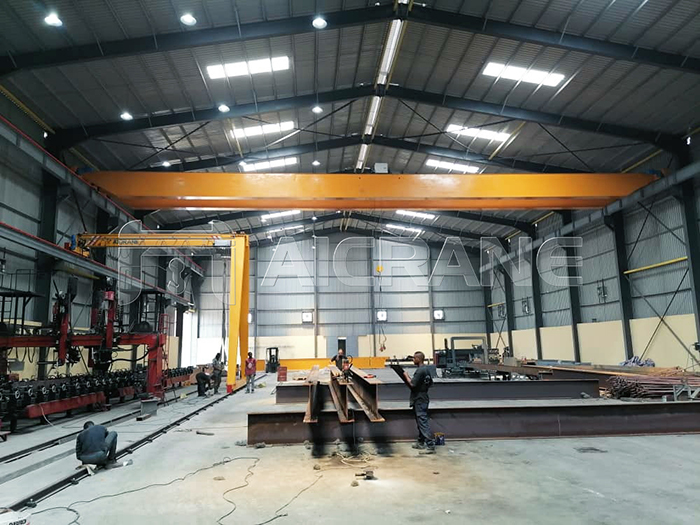 Overhead Crane Installation At The Customer Site