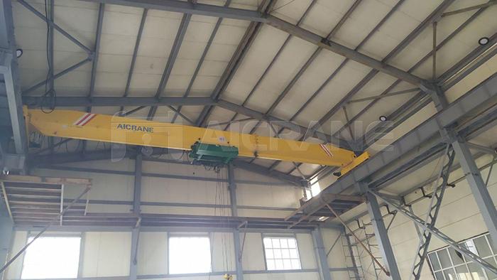 16 Ton Single Girder Overhead Crane With Low Headroom Hoist
